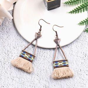 Summer look 🍍tassel earrings